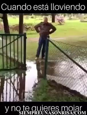 Cuando no te quieres mojar