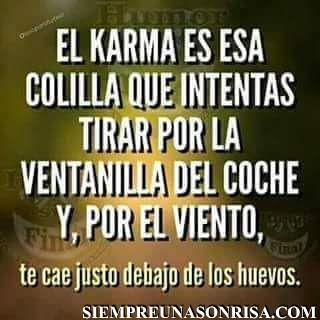 Por Fin Una Buena Explicación Del Karma Blog De Risa