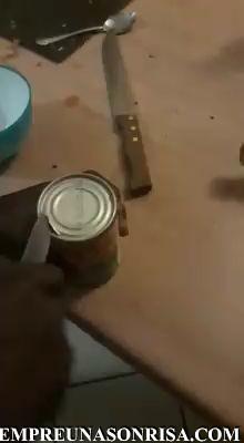Como abrir una lata sin abrelatas