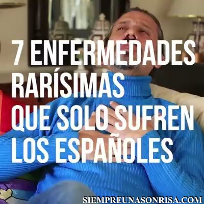 Enfermedades que solo sufren los españoles