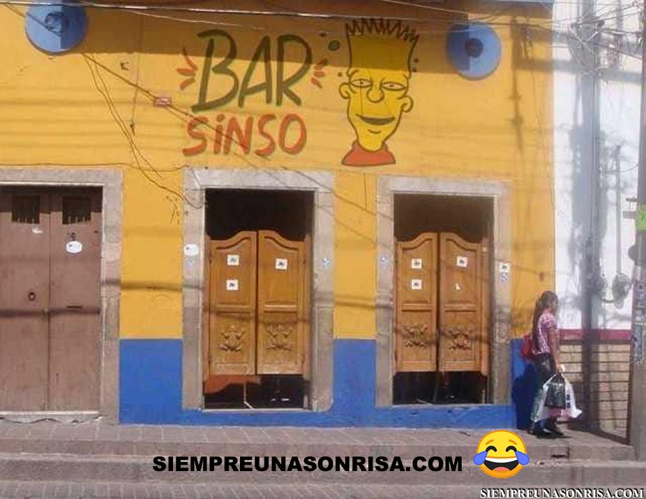 Bar Sinso - Nombres graciosos para bares