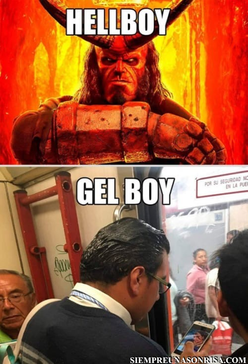 HellBoy Vs Gel Boy,diferencias,fotos,humor,risas