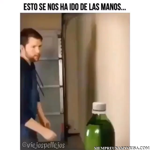 videos curiosos,botellas,tapones