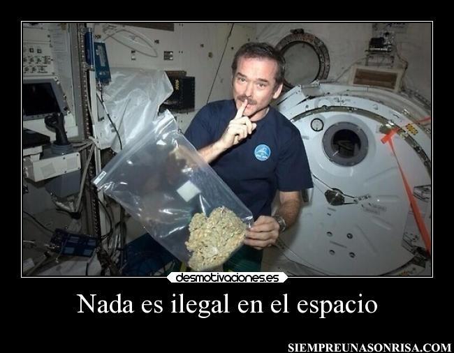 astronautas,ilegal,mariguana,humor,fotos