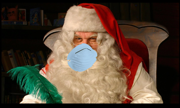 papa noel coronavirus, mascarilla, navidades