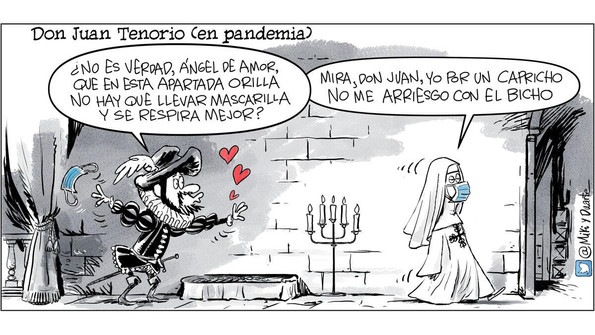 Don Juan Tenorio en Pandemia, humor covid, memes coronavirus,