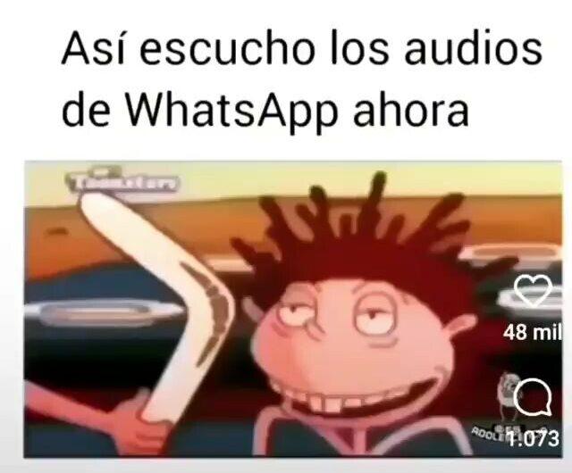 Así escucho los audios del whatsapp ahora