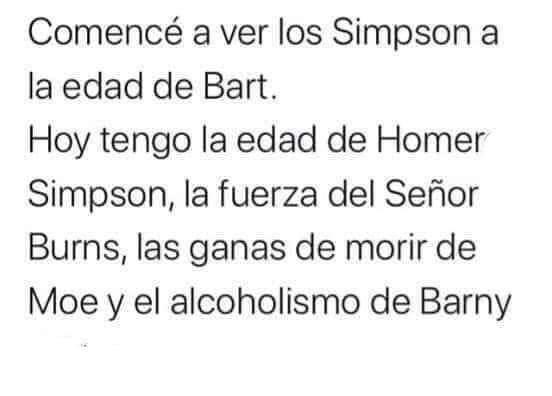La vida es como la vida de Los Simpsons